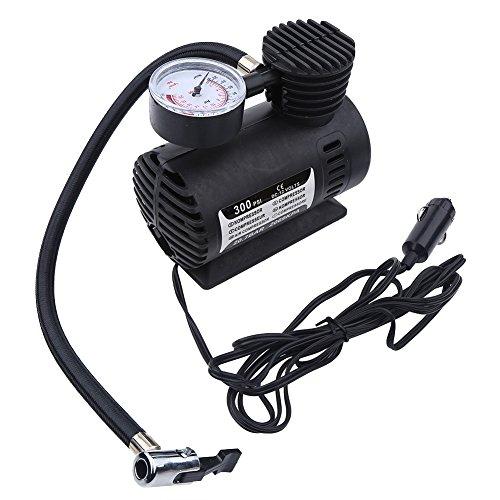 Mini compresor de aire, mini compresor de aire portátil Bomba eléctrica Infaltor 12 voltios Coche 300 PSI para bicicletas, automóviles, motocicletas, triciclos, neumáticos eléctricos, fútbol,