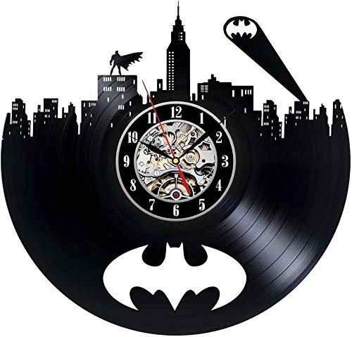 RXQCAOXIA Batman Unique Vinyl Record Reloj Vintage