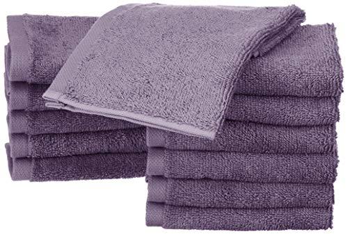 Amazon Basics - Toallas de algodón, 12 unidades, Lavanda