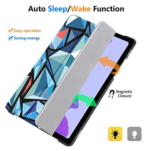 IVSO Hülle Kompatibel mit Samsung Galaxy Tab A7 10.4 2020, Schlank Slim Hülle Schutzhülle Hochwertiges PU mit Standfunktion, Samsung Galaxy Tab A7 T505/T500/T507 10.4 Zoll 2020, CH-44