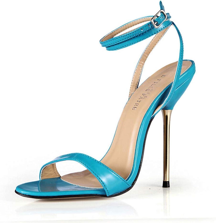 IWlxz Women's Synthetics Spring & Summer Classic Minimalism Sandals Stiletto Heel Black Beige Light bluee Wedding Party & Evening