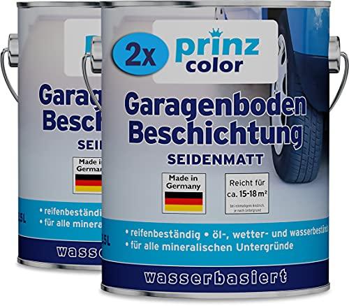 prinzcolor Premium Garagenbodenbeschichtung Bodenbeschichtung Bodenfarbe Silbergrau 5l