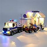 Kit de Iluminación en Lego 60139 bloquea los Juguetes, Dispositivos lámpara Conjunto Compatible con el Centro de Mando móvil (sin incluir Lego Modelo)