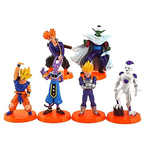 Yasdf 6 Unids / Set 12 Cm Anime Dragon Ball Z DBZ Son Goku Congelador Troncos Vegeta Piccolo Diablo Beerus PVC Figura De Acción Modelo Juguetes Regalo para Niños