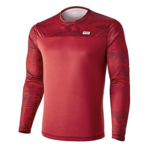 42K Running - Camiseta técnica Manga Larga 42k MIMET Winter Ruby Red M