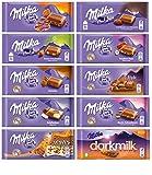 Milka Chocolate Assortment Variety Pack of 10 Full Size Bars - Randomly Selected No Duplicates