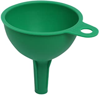 Amazon Brand - Solimo Silicone Rubber Funnel for Kitchen, Green
