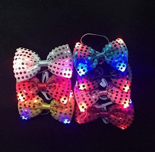 Gwill 10 Stücke Bunte Leuchtende LED Krawatte Blinkende Mode Fliege Party Halloween Hochzeit Tanzen Bühne Glühende Krawatten