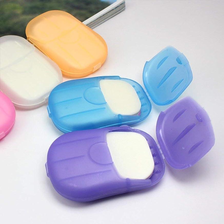 ブルゴーニュお茶うれしい1PCS小型携帯手洗い石鹸フレークランダムカラー