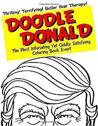 Doodle Donald Trump funny coloring book