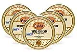 Anchoas de Santoña en aceite de oliva Emilia Serie Oro. Pack 5 panderetas 125g. GANADORAS de la Feria de la Anchoa de Santoña