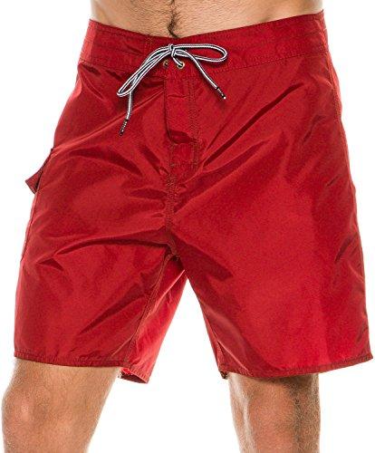 Brixton - - Bering Trunk Boardshorts Homme, 32, Burgundy