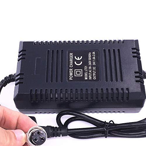 YGLONG Cargador Patinete Electrico Adaptador eléctrico de la batería de la batería...