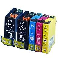 IC4CL78+ICBK78 エプソン互換インクカートリッジ EPSON互換 IC78シリーズ 4色セット+ブラック ベンチャートナー