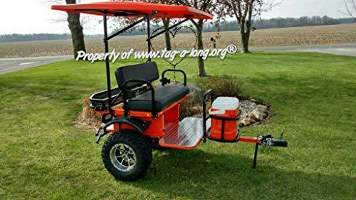 Tag-a-Long Golf Cart ATV UTV Passenger Trailer - Single Seater