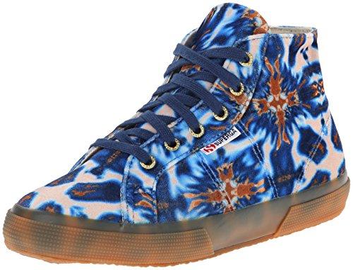 Superga Women's 2095 Velvetolmow Fashion Sneaker, Batik Blue/Brown, 39 EU/8 M US