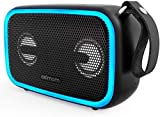 IPX7 Waterproof Bluetooth Speaker,Asimom 28W Portable Speakers with Enhanced Bass,Bluetooth 5.0,Wireless Stereo Pairing,12H Playtime,Beat-Driven Light for Outdoor Beach Pool,Support TF Card,AUX-in