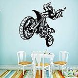 Pegatina de la pared de la motocicleta DIY Etiqueta de...