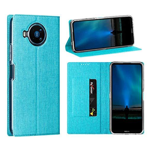 Cresee Nokia 8.3 5G Hülle, PU Leder Handyhülle mit Kartenfach, Schutzhülle Hülle Tasche Flip Cover Standfunktion Stoßfest Brieftasche für Nokia 8.3 (Blau)