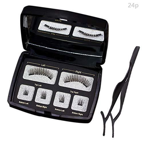 Faux 3D Cils magnétiques Extension de Maquillage Facile à Utiliser avec des aimants Ultra Minces Faits à la Main.