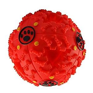 Wankd Dressage de Chien pour Animal Domestique Jouet interactif pour Chien Balle Distributeur de Nourriture Treat Feeder dent de Nettoyage Boule pour Animal Domestique Jouer Mâcher d'exercice de Jeu