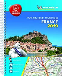 Laminated Road Atlas of France 2019