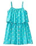 Gymboree Girls' Little Sleeveless Ruffle Printed Dress, Pool Blue, S