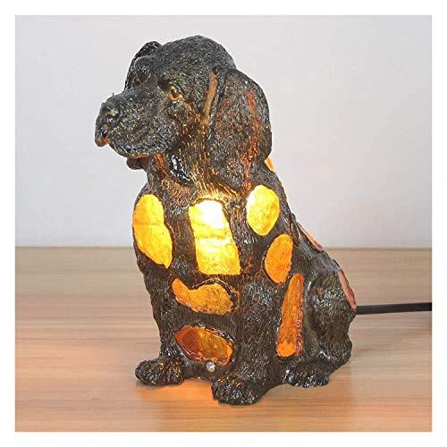 DSDD Lámpara Tiffany Lámpara de Mesa Europea Tiffany Vidrieras Lámpara de Mesa Creativa para Perros pequeños Lámpara para niños Luz Nocturna