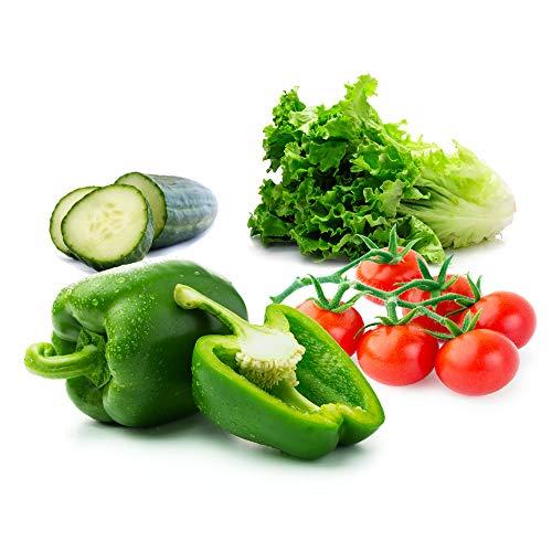 Vegetable Seeds for Planting Vegetables - Variety Salad Pack - Romaine Lettuce - Cherry Tomato -...