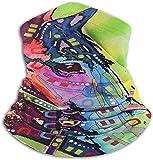 Jxrodekz Unisex Neon Rainbow Art Pferd Winter Nackenwärmer Gamaschen Haarband Kaltes Wetter Tube Gesichtsmaske Thermal Halstuch