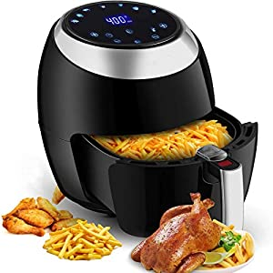 Air Fryer Max XL 6.8 Quart,1800W Electric Hot Air Fryers Oven & Oilless Cooker for Roasting LED Digital Touchscreen Nonstick Basket Temperature up to 400°F, Low Fat Healthy EU/UK Plug
