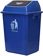 ZXJshyp Outdoor Trash Can Swing Box Home Garden Kitchen Garbage Recycling Waste Recycling Bin (Color : Blue, Size : 25L)
