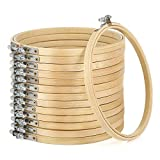 Caydo 14 Pieces 6 Inch Embroidery Hoops Bulk Wholesale Cross Stitch Hoop Ring for for Embroidery and Cross Stitch