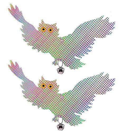 Ccmart uccello Scare ad ultrasuoni – riflettente da appendere gufo – Pest repellente deterrente ricambio picchio – Scare e spaventare piccioni, gabbiani, parassiti per proteggere i fiori e giardino