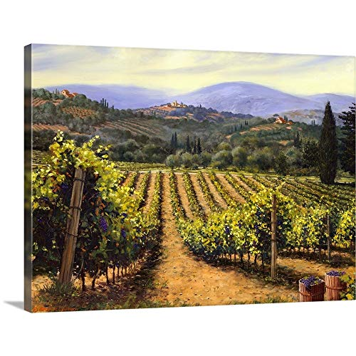 "Tuscany Vines Canvas Wall Art Print, 24""x18""x1.25"""