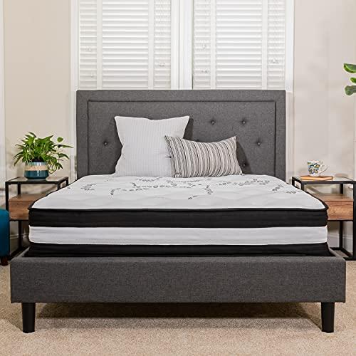 Flash Furniture Capri Comfortable Sleep 12 Inch CertiPUR-US Certified Foam and Pocket Spring Mattress, Queen Mattress in a Box