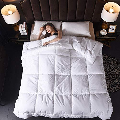 Home White Comforter All-Season Down Duvet Washable Duvet Plush Cotton Microfiber Fill-White_180_x_220CM/2.5KG