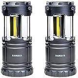 Raniaco LEDランタン 明るい 携帯型 折り畳み式 ポータブル テントライト 防水仕様 防災対策 停電 登山 夜釣り ハイキング アウトドア キャンプ用 2個セット (001)