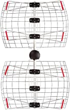 Antennas Direct 4-Element Bowtie TV Antenna, 60 Miles Range, Multi-Directional, Indoor, Attic, Outdoor Applications, All-Weather Mounting Hardware, Adjustable Mast Clamp, 4K Ready, Silver - DB4e