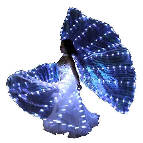Aangenomen vleugels volwassenen LED-danskleding licht vleugel dans vleugel licht rekwisieten prestaties buikdans vleugel gespleten wit licht dansen