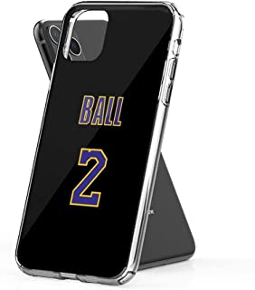 Crystal Clear Phone Cases Lonzo Ball 2 Lakers Jersey Phone Case Case Cover Compatible for iPhone (11 Pro Max)