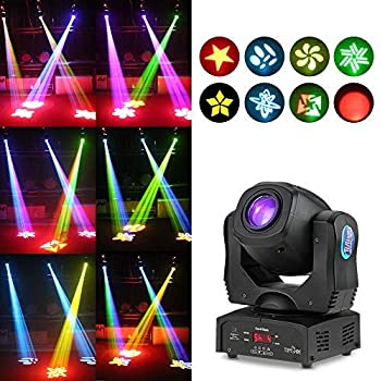 Tomshine Moving Head Lights 80W Stage Lights 8 Gobo Rainbow DJ Lights Disco Lights 8 Colors 9/11 Channels LED Strobe Lights DMX512 Control for Disco KTV Club Party Wedding