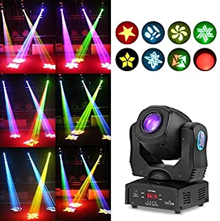 Tomshine 80W Moving Head Light 8 Gobo Rainbow 8 Colors 9/11 Channels LED Stage Gobo Pattern Lamp for Disco KTV Club Party Wedding