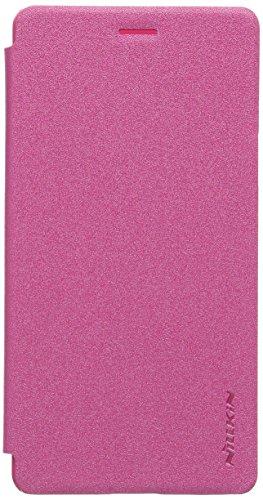 Nillkin Sparkle Leder Tasche für Oppo Spiegel (A51) 5/5S, rot (Retailverpackung)