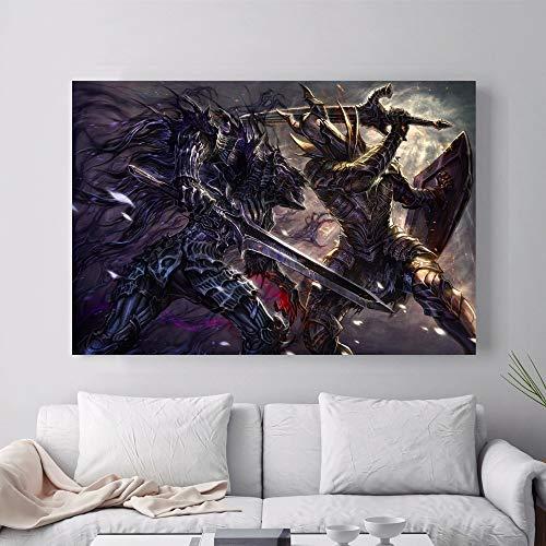 ganlanshu Videospiel Kunstwerk Poster Wandmalerei auf Leinwand Wohnzimmer Wohnkultur,Rahmenlose Malerei-30X45cm