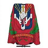 Capa Del Salón Escudo De Armas República Dominicana Bandera Barbero Suministros Corte De Pelo Delantal Cubierta Del Cabo Salón Profesional Capa Unisex Ligero Peluquería Peluquería