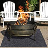 Fire Pit Mat—Gas Grill mat,Retardant,Heat Resistant,Ember Mat,Electric Smoker Mat,Under The Stove, Protect Your Deck, Terrace, Lawn or Campground from Embers,Reusable,Waterproof Backing (36' x 50')