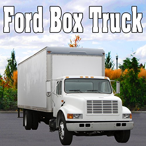 Ford Box Truck Rear Cargo Loading Ramp Unhooked from Truck