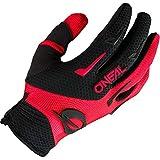 O'NEAL   Guantes de Bici y Motocross   MX MTB DH FR Downhill Freeride   Materiales duraderos y Flexibles, Palma ventilada   Guante Element   Hombre   Negro Rojo   Talla L