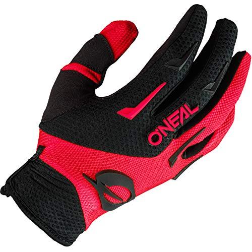 O'NEAL   Fahrrad- & Motocross-Handschuhe   MX MTB DH FR Downhill Freeride   Langlebige, Flexible Materialien, belüftete Handinnenfäche   Element Glove   Herren   Schwarz Rot   Größe M